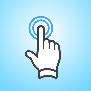 hand double taping gesture icon