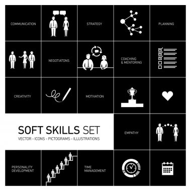 Soft skills icons set