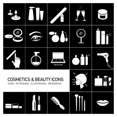 Cosmetics and beauty icons
