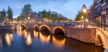 Panorama of beautiful Amsterdam