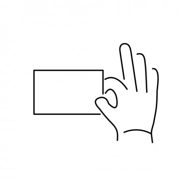 icon of hand holding a card ges