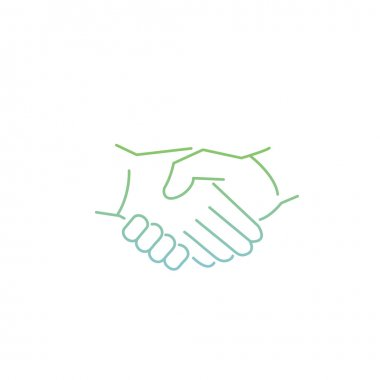 icon of handshake touch