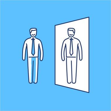 Vector self confidence skills icon