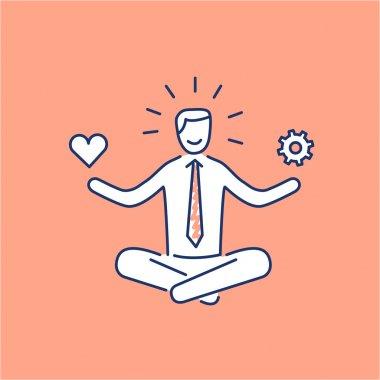 Vector stress management skills icon