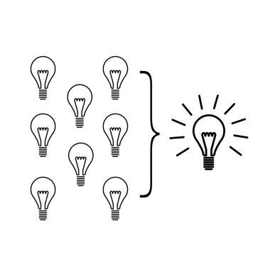 Vector faciliting skills icon