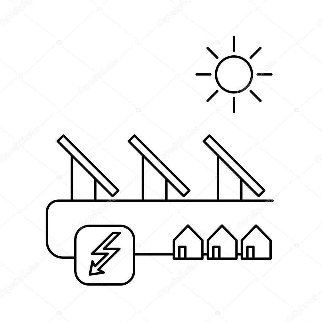 solar energy system ecology and environment stock vector Solar Power System Diagram solar energy system ecology and environment stock vector