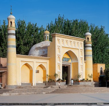 Id Kah Mosque, Kashgar, Xinjiang privince, China. This is the largest Mosque in China. It is the central place of worship for the local Uyghur population