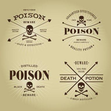Vintage Retro Poison Seals Set
