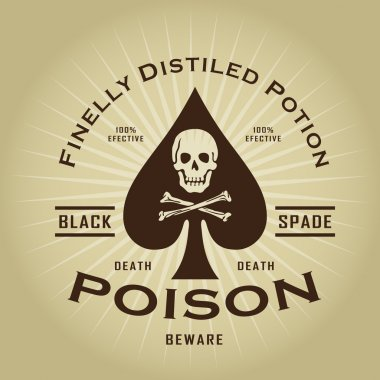 Vintage Retro Poison Seal