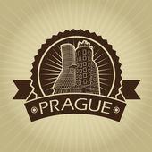 Vintage Retro Prague Dancing House Seal