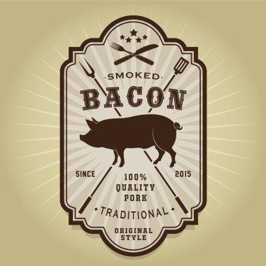 Vintage Retro Smoked Bacon Seal