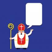 Saint Nicholas Svaty Mikulas with Talking Bubble