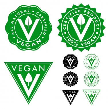 Vegan Certified Seal Icon Set