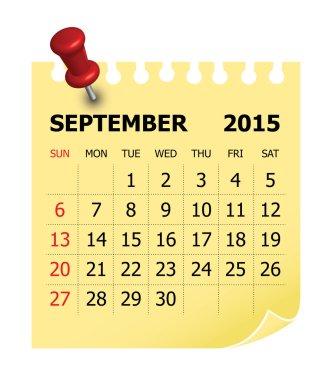 2015 Calendar- September