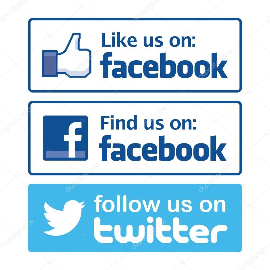 like us on facebook vector