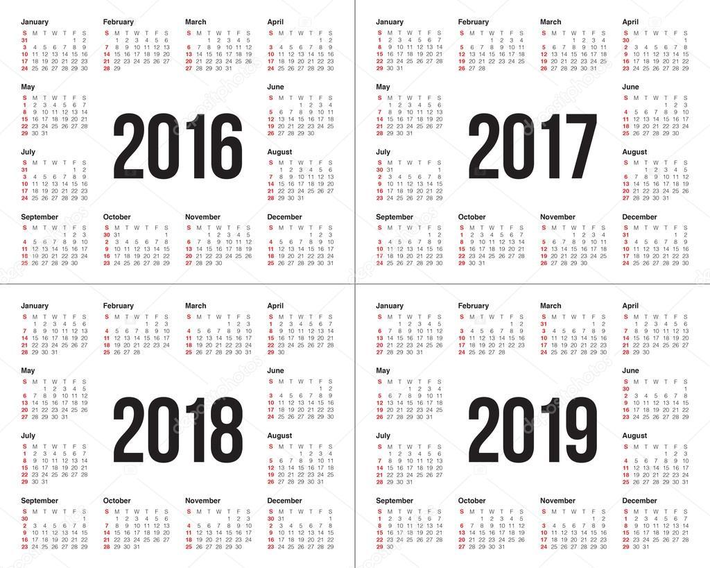 Calendar Illustration List : Calendrier — image vectorielle