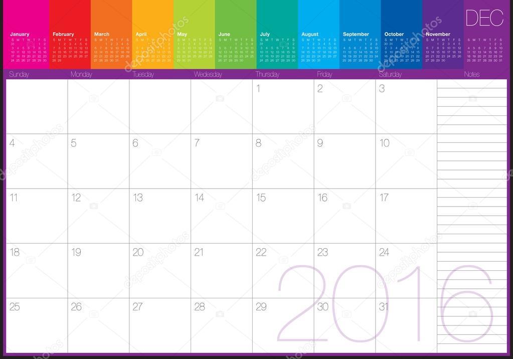2016 table calendar december stock vector dolphfynlow 87755276