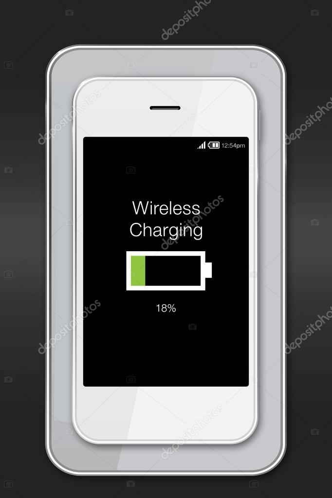 drahtlose aufladen-Symbol auf smartphone — Stockfoto © dolphfynlow ...