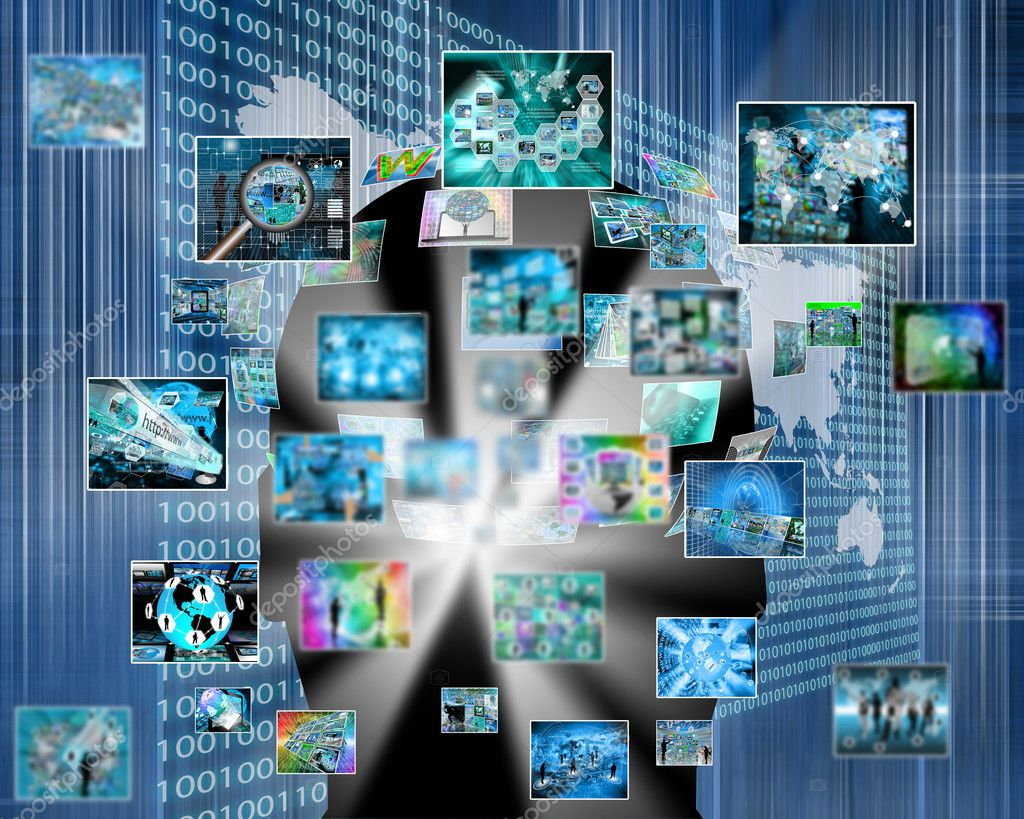 Information explosion — Stock Photo © SSSRRUSSIA #61995495