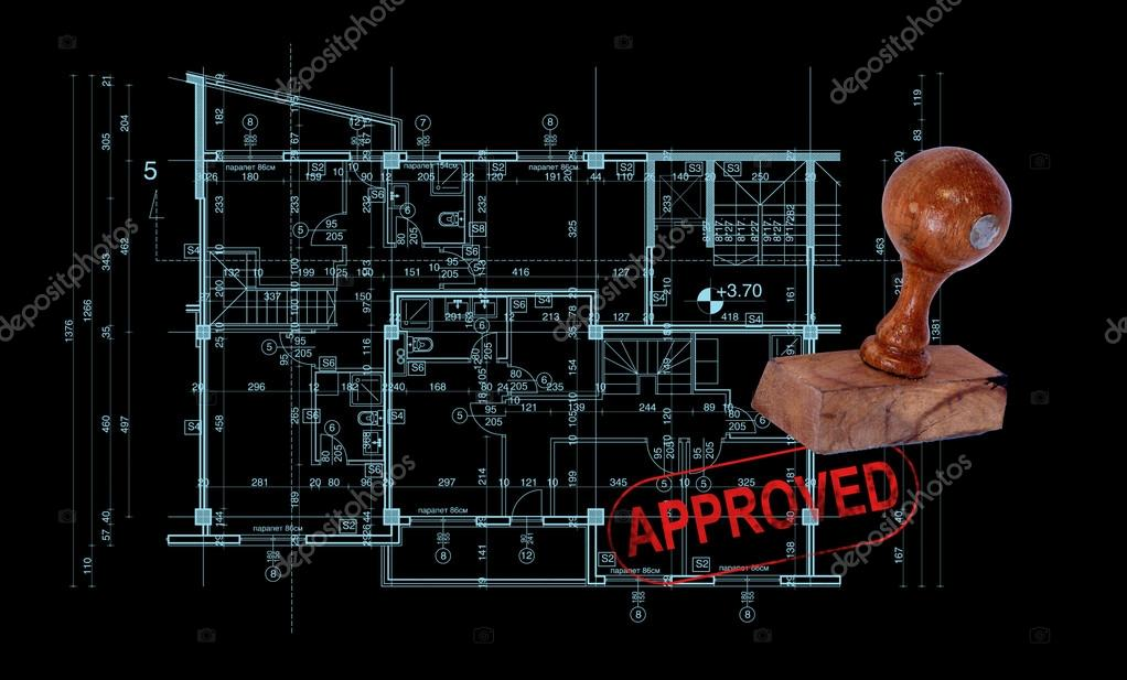 Abstract architecture blueprint stock photo vitanovski 57349217 abstract architecture blueprint with rubber stamp approved photo by vitanovski malvernweather Choice Image