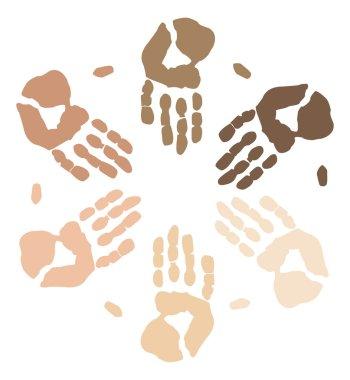 Multi cultral diverse hands