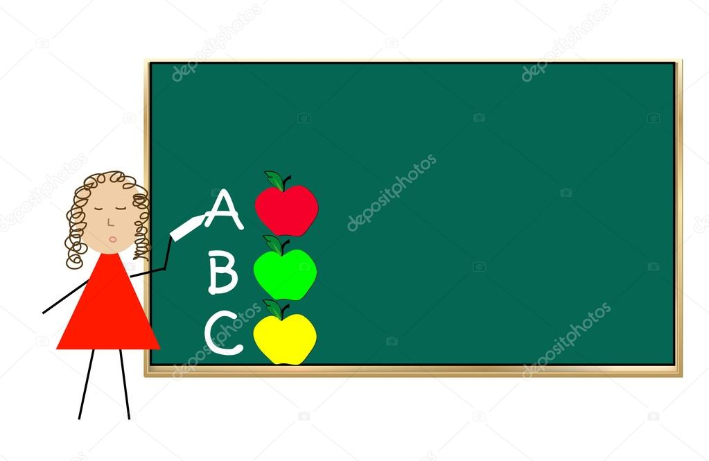 teacher standing at chalk board stock vector willeecole 51807017 rh depositphotos com chalk vector free chalk vectors team