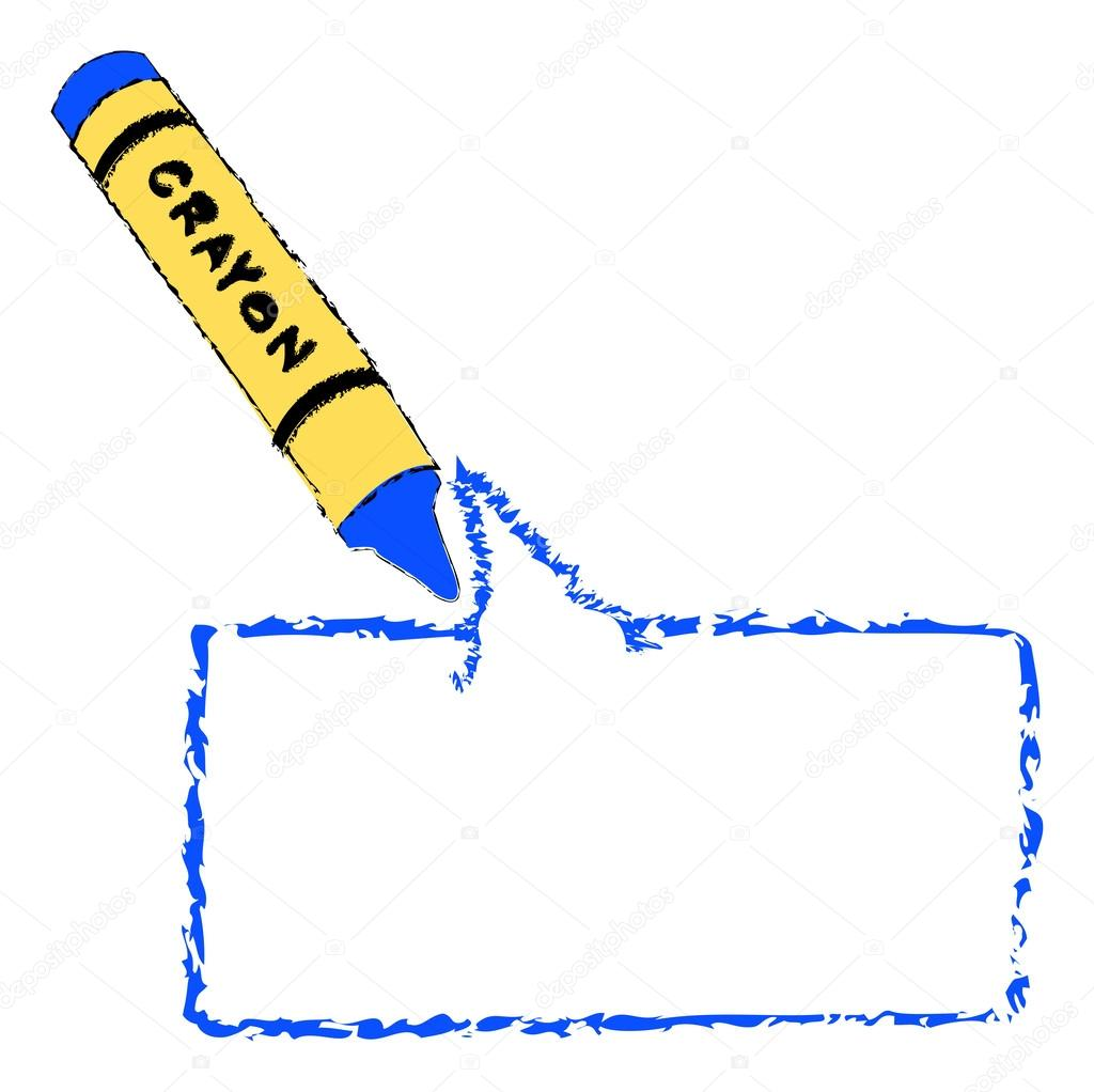 Crayón para colorear bocadillo de diálogo — Archivo Imágenes ...
