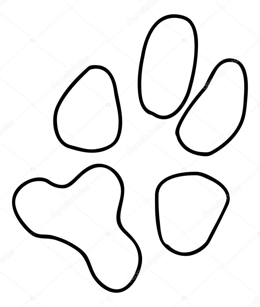 Black dog or cat paw print — Stock Vector © willeecole #51808823