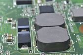 Fotografie Capacitors and chips