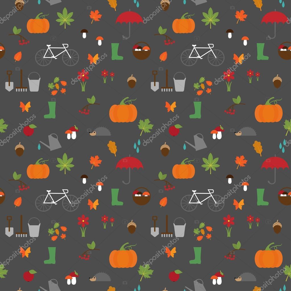 autumn garden flat pattern