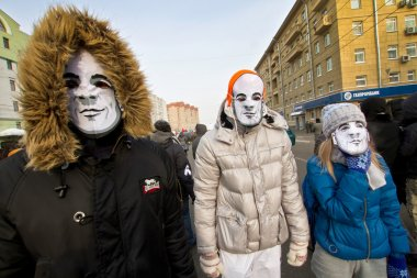 Moscow, Russia - February 4, 2012. Anti-government opposition ra