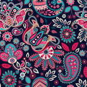 Fotografie Paisley seamless pattern. Floral background in ethnic style