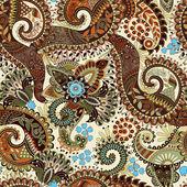 Bezešvé vzor Paisley, květinové tapety