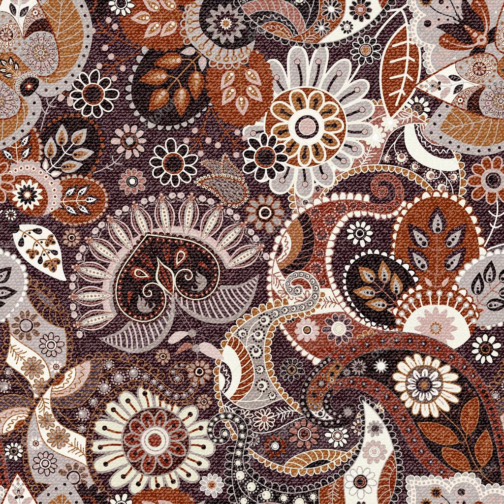 Seamless Paisley background, floral pattern