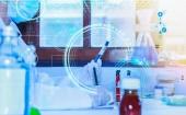 Vědec s laboratorní zázemí a koncepce