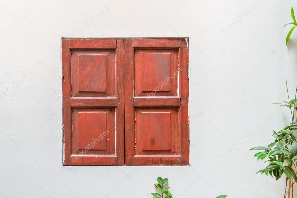 Diseño De Ventanas De Madera Para Casas Ventana Del Viejo Fondo De
