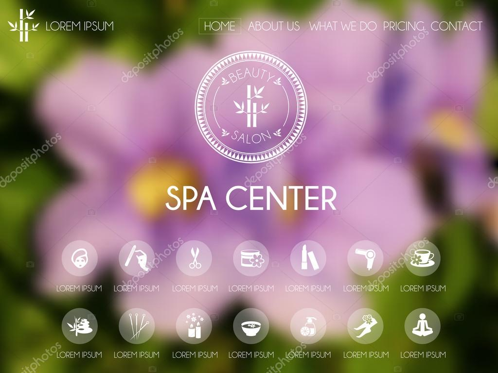 Beauty and spa website template