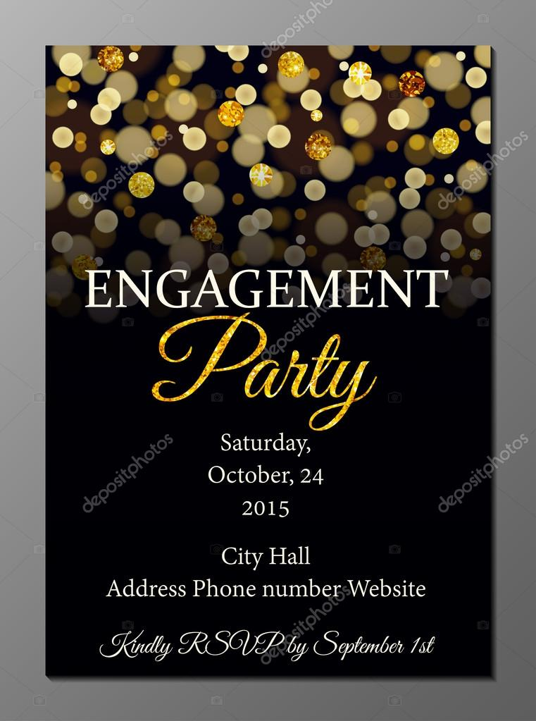 Engagement party invitation card — Stock Vector © Mariam2707 #74080435