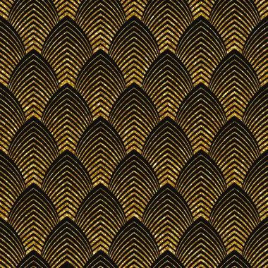 art deco golden seamless pattern