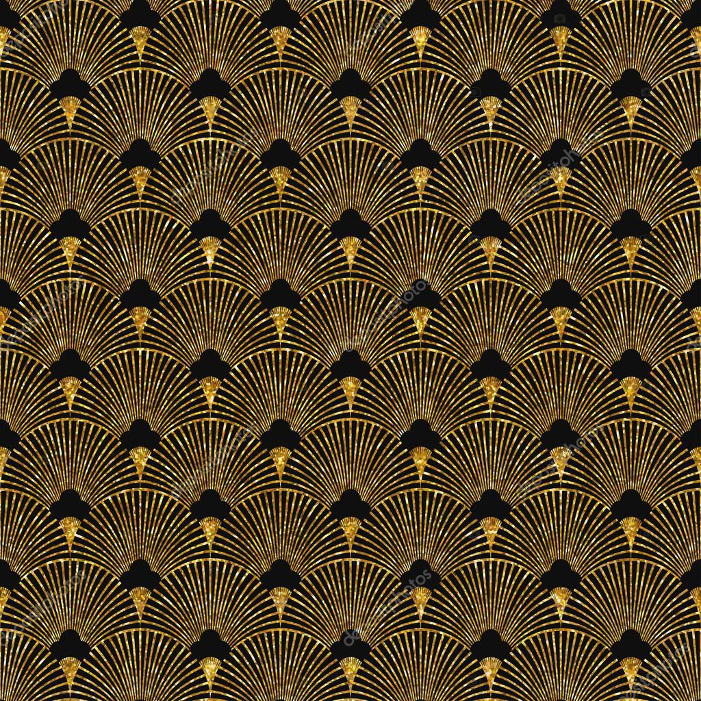 Art deco golden seamless pattern — Stock Vector © Mariam2707 #94515696