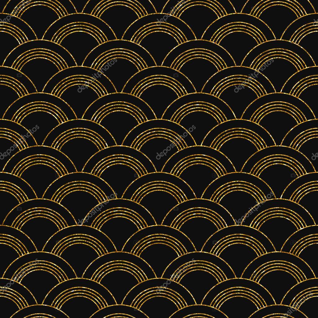 art deco golden seamless pattern — Stock Vector © Mariam2707 #94516250