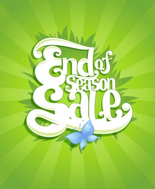 End season sale calligraphy vector design, suitable for spring and summer