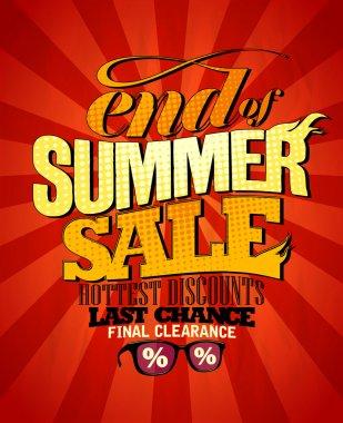 End of summer sale design.