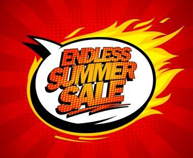 Endless summer sale pop-art design.