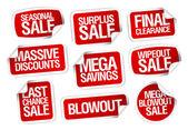 Fotografie Mega-Ersparnis-Verkauf-Aufkleber