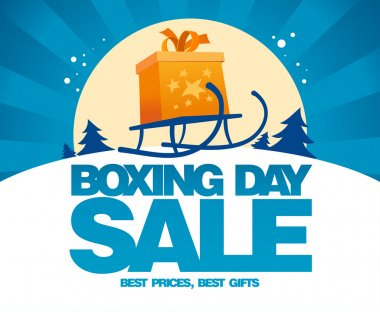 Boxing day sale design with sled.