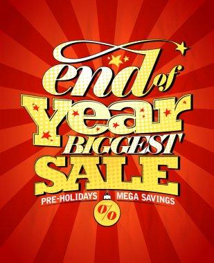 End of year biggest sale design.