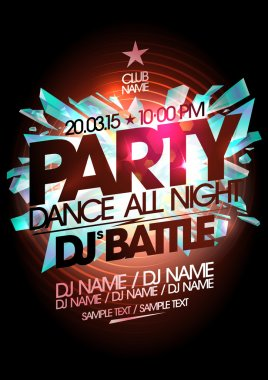 Dance party design, dj battle.
