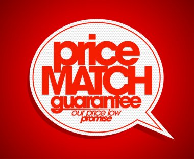 Price match guarantee bubble.