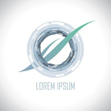 Art futuristic torus logo design.